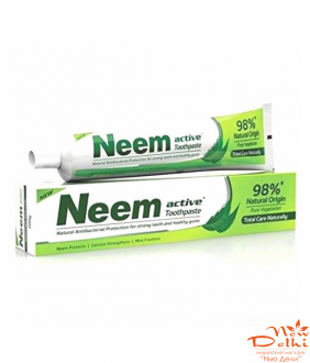 Зубная паста Ним Актив Джйоти Лаб.(Neem Active toothpaste, Jyothy Laboratories ltd), 200грамм.